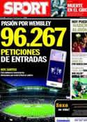 Portada diario Sport del 10 de Mayo de 2011