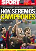 Portada diario Sport del 11 de Mayo de 2011