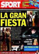 Portada diario Sport del 13 de Mayo de 2011