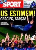 Portada diario Sport del 14 de Mayo de 2011