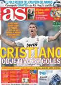 Portada diario AS del 15 de Mayo de 2011