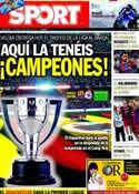 Portada diario Sport del 15 de Mayo de 2011