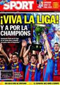 Portada diario Sport del 16 de Mayo de 2011