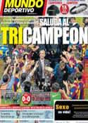 Portada Mundo Deportivo del 16 de Mayo de 2011