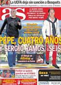 Portada diario AS del 17 de Mayo de 2011