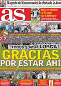 Portada diario AS del 19 de Mayo de 2011