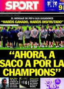 Portada diario Sport del 19 de Mayo de 2011