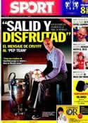 Portada diario Sport del 20 de Mayo de 2011