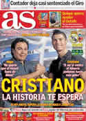 Portada diario AS del 21 de Mayo de 2011