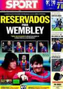 Portada diario Sport del 21 de Mayo de 2011