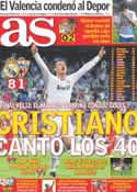 Portada diario AS del 22 de Mayo de 2011
