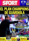 Portada diario Sport del 22 de Mayo de 2011