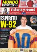 Portada Mundo Deportivo del 22 de Mayo de 2011