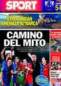Portada diario Sport del 23 de Mayo de 2011