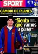 Portada diario Sport del 24 de Mayo de 2011