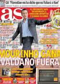 Portada diario AS del 26 de Mayo de 2011