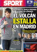 Portada diario Sport del 26 de Mayo de 2011