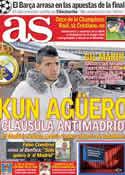 Portada diario AS del 27 de Mayo de 2011