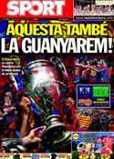 Portada diario Sport del 28 de Mayo de 2011