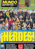 Portada Mundo Deportivo del 30 de Mayo de 2011