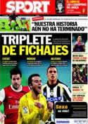 Portada diario Sport del 31 de Mayo de 2011