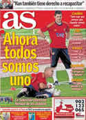 Portada diario AS del 1 de Junio de 2011