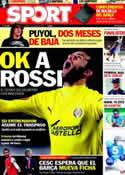 Portada diario Sport del 2 de Junio de 2011