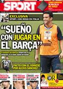 Portada diario Sport del 3 de Junio de 2011
