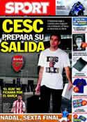 Portada diario Sport del 4 de Junio de 2011