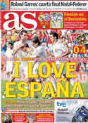 Portada diario AS del 5 de Junio de 2011
