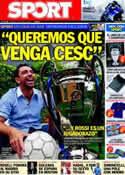 Portada diario Sport del 5 de Junio de 2011