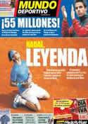Portada Mundo Deportivo del 6 de Junio de 2011