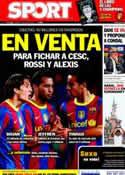 Portada diario Sport del 7 de Junio de 2011