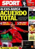Portada diario Sport del 8 de Junio de 2011