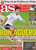 Portada diario AS del 9 de Junio de 2011
