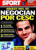 Portada diario Sport del 9 de Junio de 2011