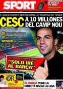 Portada diario Sport del 10 de Junio de 2011