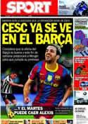 Portada diario Sport del 11 de Junio de 2011