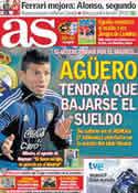 Portada diario AS del 12 de Junio de 2011