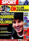 Portada diario Sport del 12 de Junio de 2011
