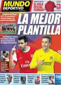 Portada Mundo Deportivo del 12 de Junio de 2011