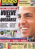 Portada Mundo Deportivo del 13 de Junio de 2011