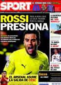Portada diario Sport del 14 de Junio de 2011