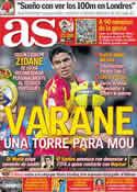Portada diario AS del 18 de Junio de 2011