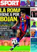 Portada diario Sport del 18 de Junio de 2011