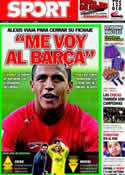 Portada diario Sport del 20 de Junio de 2011