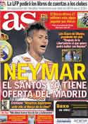 Portada diario AS del 21 de Junio de 2011