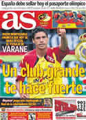 Portada diario AS del 22 de Junio de 2011