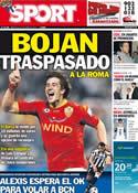 Portada diario Sport del 22 de Junio de 2011