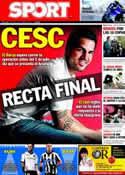Portada diario Sport del 24 de Junio de 2011